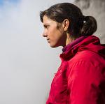 Nina CAPREZ climbs Orbayu - Naranjo de Builnes, Picos de Europa, Spain.